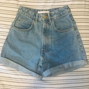 Zara Mom Fit Shorts